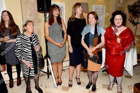 Stock Photo of Guest, guest, Kathleen Baird Murray, Susan Irvine, Drusilla Beyfus and Linda Watson
