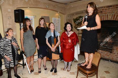 Stock Image of Guest, Kathleen Baird Murray, Susan Irvine, Drusilla Beyfus, Linda Watson and Alexandra Shulman