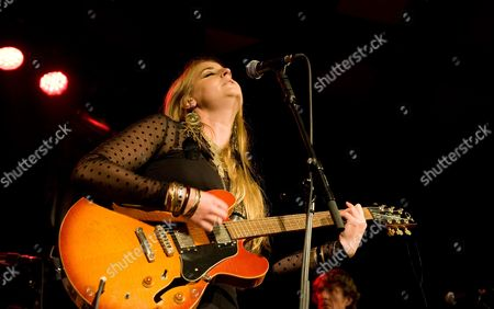 Stock Picture of Trembling Bells - Singer and guitarist Lavinia Blackwall