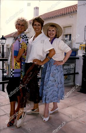 Cast Members Of The Television Programme 'eldorado' L-r Polly Perkins Hilary Crane And Patricia Brake Eldorado Was A British Soap Opera That Ran For Only One Year From 6 July 1992 To 9 July 1993. Set In The Fictional Town Of Los Barcos On The Costa Del Sol In Spain And Based Around The Lives Of British And European Expats The Bbc Hoped It Would Be As Successful As Eastenders And Replicate Some Of The Sunshine And Glamour Of Imported Australian Soaps Such As Home And Away And Neighbours. A Co-production Between The Bbc And Independent Production Company Cinema Verity Eldorado Aired Three Times A Week In A High-profile Evening Slot On The Mainstream Channel Bbc1 Filling The Slot Vacated By Terry Wogan's Chat Show Wogan On Mondays Wednesdays And Fridays At 7.00pm. In Spite Of A High-profile Advertising Campaign On Television Radio And In The Press Preceding The Launch ('are You Ready For Eldorado?' Read By Actor Campbell Morrison) The Programme Was Not Initially A Popular Hit With Viewers And Critics. Ratings Improved With A Radical Overhaul But It Was Eventually Cancelled By The New Controller Of Bbc1 Alan Yentob.