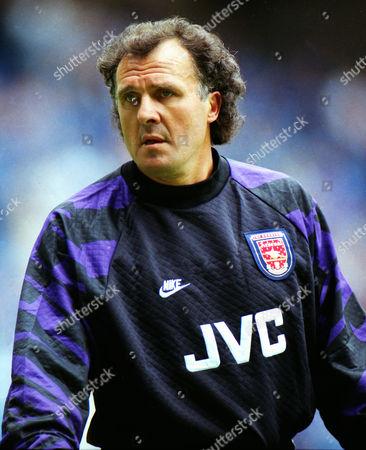 John Burridge (ARSENAL goalkeeper) GLASGOW RANGERS v ARSENAL 03/08/1996 Richard Gough testimonial match GLASGOW RANGERS v ARSENAL