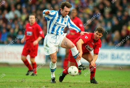 Steve Jenkins (Hudd) Stewart Castledine - Wimbledon Huddersfield Town v Wimbledon FA Cup 4th rd 24/01/1998 FA Cup R4: Huddersfield 0 Wimbledon 1