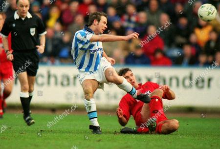 Marcus Stewart (Hudd) Stewart Castledine - Wimbledon Huddersfield v Wimbledon FA Cup 4th rd 24/01/1998 FA Cup R4: Huddersfield 0 Wimbledon 1