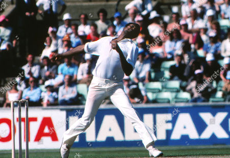 Colin Croft (lWest Indies) 4th test at The Oval England v West Indies 24 - 29/07/1980 England v West Indies