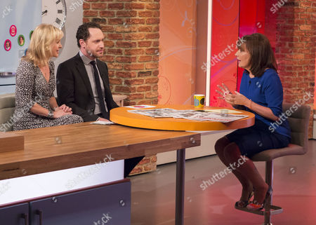 Jane Martinson and Hugo Rifkind with Lorraine Kelly