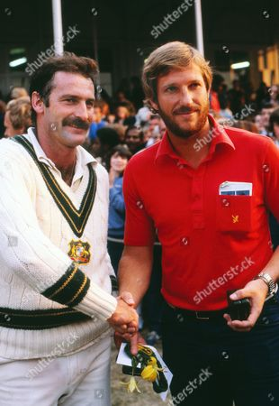 Cricket - 1981 Ashes Sixth Test - England vs Australia England's Ian Botham and Australia's Dennis Lillee at the Oval 1981 Ashes: 6th Test