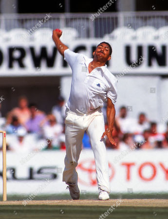 Cricket : Phil DeFreitas - England England v West Indies 5th test at the Oval Aug 1991 5th Test: England v West Indies