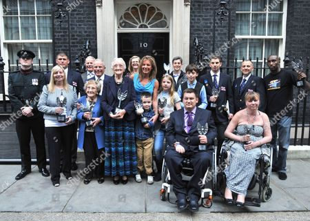 Pride of Britain winners Paul Eastment, Chris Missen, Martin Blaker-Rowe, Harley Lane, Daniel Black, Martha Payne, Bailie Kershaw, Margaret Aspinall, Jean Bishop, Sharon Gray, Professor Ray Powles, Professor Trevor Powles, Clifford Harding, Lance Corporal Matthew Wilson, Karin Williams