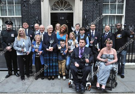 Stock Photo of Pride of Britain winners Paul Eastment, Chris Missen, Martin Blaker-Rowe, Harley Lane, Daniel Black, Martha Payne, Bailie Kershaw, Margaret Aspinall, Jean Bishop, Sharon Gray, Professor Ray Powles, Professor Trevor Powles, Clifford Harding, Lance Corporal Matthew Wilson, Karin Williams