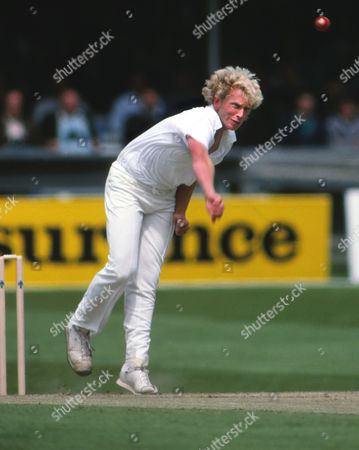Cricket - 2nd Test - England vs West Indies 1988 Graham Dilley of England Bowling