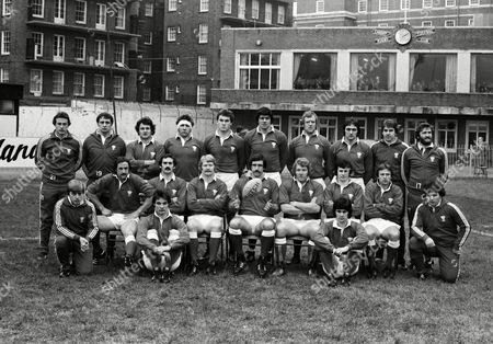 Rugby Union - 1980 Five Nations Championship - Wales 18 France 9 Wales team group before the game at Cardiff Arms Park on 19/1/80 Back (left to right): Stuart Lane John Richardson Allan Phillips Clive Williams Eddie Butler (making debut) Allan Martin Geoff Wheel Roger Blyth Chris Webber Ray Gravell Front: Gerald Williams Paul Ringer Les Keen Steve Fenwick Jeff Squire (captain) Graham Price David Richards Elgan Rees Bill James Sitting: Terry Holmes Gareth Davies 5N 1980: Wales 18 France 9