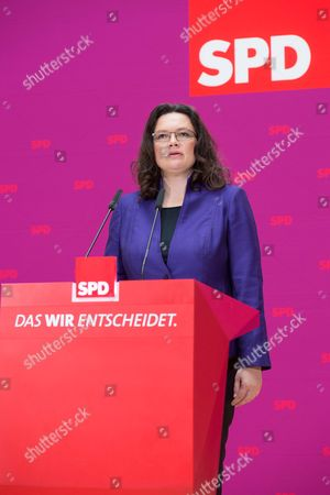 Editorial photo of SPD press conference, Berlin, Germany - 07 Oct 2013