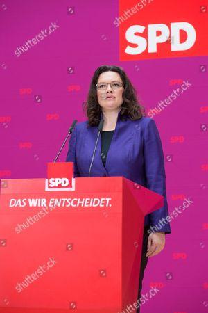 SPD General secretary Andreas Nahles