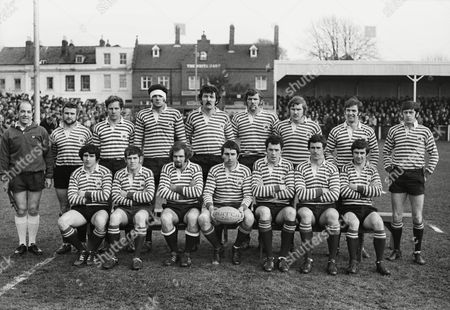 Rugby Union - 1971 RFU County Championship - Final: Gloucestershire 3 Surrey 14 The Surrey Team Group before the game at Kingsholm Back Row (left to right): J Williamson (London Society touch judge) B Russell (Richmond) Bob Lloyd (Harlequins) Mervyn Davies (London Welsh) Geoff Evans (London Welsh) Mike Roberts (London Welsh) Paddy Hinton (Richmond) R C Cunis (Rosslyn Park) Colin Gibbons (London Welsh) Front: Nigel Starmer-Smith (Harlequins) Ian Wright (Northampton) John Taylor (London Welsh) Bob Hiller (Harlequins; captain) Alastair McHarg (London Scottish) John Novack (Harlequins) Tony Phillips (London Welsh) It was the only occasion Surrey have won the County Championship outright County Final: Gloucestershire 3 Surrey 14