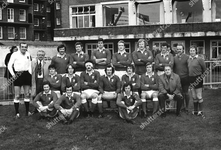 Rugby Union - 1973 Australia Tour of England and Wales - Wales 24 Australia 0 The Wales Team Group before the game at Cardiff Arms Park on 10/11/1973 Back Row (left to right): K A Pattinson (referee) ---- Tommy David Glyn Shaw Allan Martin Phil Llewellyn Derek Quinnell Dai Morris Merion Joseph (linesman) D M Davies (linesman) Front: Bobby Windsor JPR Williams Mervyn Davies Gareth Edwards (captain) Gerald Davies Roy Bergiers Clive Rowlands (coach) Sitting: Keith Hughes Phil Bennett JJ Williams Wales 24 Australia 0