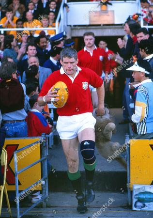 Rugby Union - 1989 British Lions Tour of Australia - Second Test: Australia 12 British Lions 19 Lions captain Finlay Calder leads his side out at Ballymore Brisbane 2nd Test: Australia 12 Lions 19