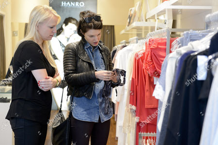 Editorial picture of Stars shopping at luxury lingerie brand HANRO on the opening day of their new store, London, Britain - 09 Oct 2013