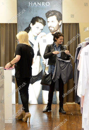Ben Grimes shopping at luxury lingerie brand HANRO on the opening day of their new store