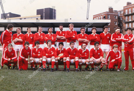 Rugby Union - 1982 Five Nations Championship - Wales 22 France 12 The Wales team group before kick-off at Cardiff Arms Park on 06/02/1982 Back (left to right): Gareth Williams (sub) Graham Price Gwyn Evans Clive Burgess Ray Gravell Steve Sutton Dick Moriarty Ian Stephens Rob Ackerman Rhodri Lewis --- (sub) Billy James (sub) Front: --- (sub) ---- (sub) David Richards Jeff Squire Gareth Davies (captain) Terry Holmes Clive Rees Allan Phillips --- (sub) Unnamed subs are Alun Donovan Malcolm Dacey Gerald Williams and Clive Williams 1982 5N: Wales 22 France 12