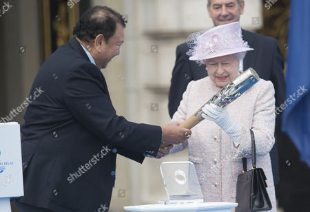 Prince Imran of Malaysia and Queen Elizabeth II