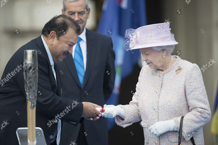 Queen Elizabeth II with Prince Imran of Malaysia