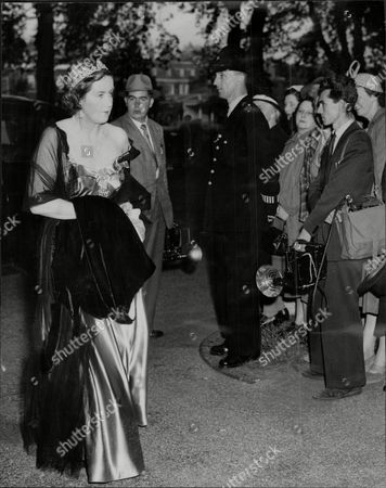Editorial image of Elizabeth Lady Salisbury Attending A Dinner For The Norwegian Embassy At Kensington Palace.