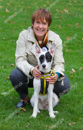 Caroline Spelman MP and her rescue dog