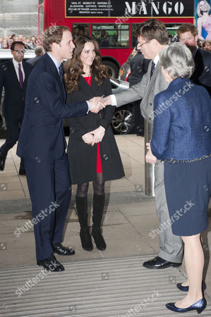 Prince William With Kate Middleton (now Duchess Of Cambridge) At The New Zealand High Commission In London To Sign The Book Of Condolence In Memory Of Those Who Lost Their Lives In The Christchurch Earthquake. Meeting With The High Commissioner Derek Leask And Deputy Belinda Brown.