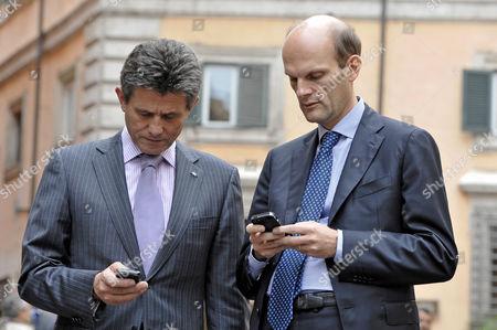Henri de Castries, CEO and Chairman of AXA and Frederic De Courtois, CEO of AXA Italia