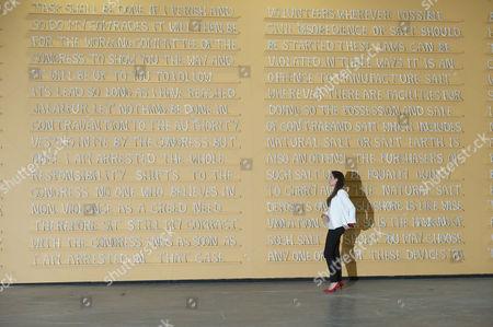Sculpture titled 'Public Notice 2' (2007) by Jitish Kallat