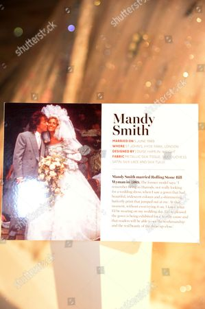 Mandy Smith wedding dress plaque