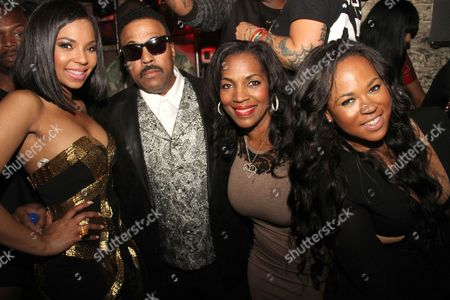 Stock Photo of Ashanti, Ken-Kaide Thomas Douglas, Tina Douglas and Shia Douglas