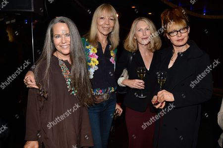 Stock Picture of Koo Stark, Penelope Tree, guest and Lyndall Hobbs