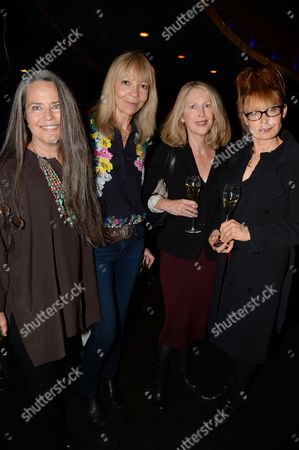 Stock Image of Koo Stark, Penelope Tree, guest and Lyndall Hobbs