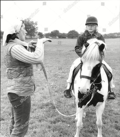 Actor Ricky Schroeder And Horse Jester In Bedfordshire.
