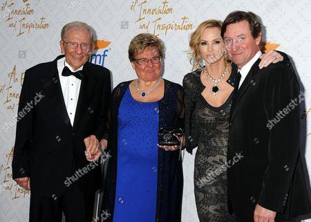 Alfred Mann, Claude Mann, Janet Jones-Gretzky, Wayne Gretzky