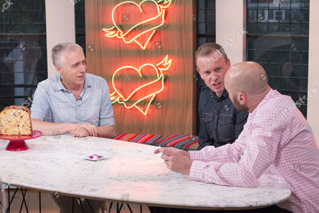 Stock Image of Marcus Chown with Tim Lovejoy and Simon Rimmer