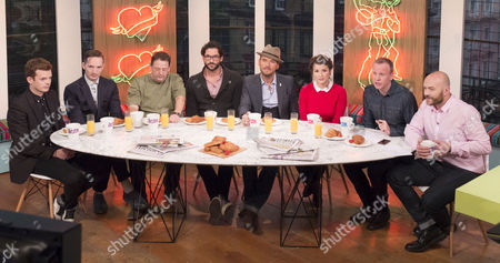 The Feeling - Richard Jones and Dan Gillespie Sells, Johnny Vegas, Tom Ellis, Matt Goss, Rachel Khoo, Tim Lovejoy and Simon Rimmer.