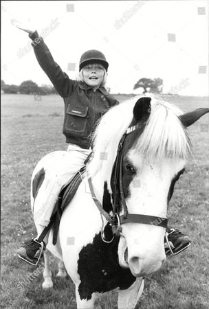 Ricky Schroeder Child Actor With His Pony Jester.