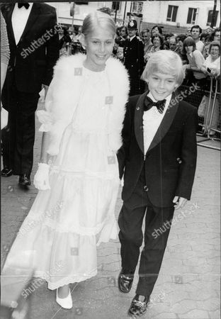 Child Actor Ricky Schroeder With His 11 Year Old Sister Dawn At The Premier Of His New Film Million Dollar Boy.