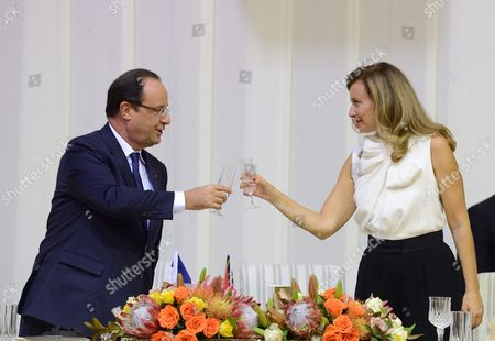 Editorial picture of State dinner for French President Francois Hollande in Pretoria, South Africa - 14 Oct 2013