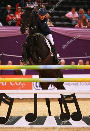 Stock Image of Tina Fletcher (GBR) riding in the Five Fence Challenge