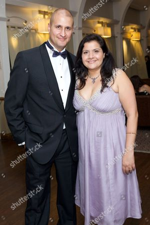 Stock Image of Raiomond Mirza (husband) & Nina Wadia