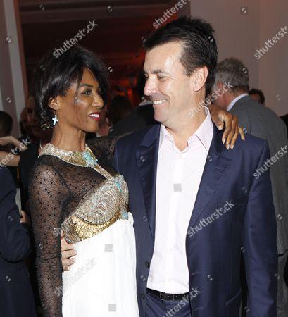 Sinitta and Nicholas Cowell