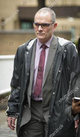 Stock Photo of Pc Alex Macfarlane At Southwark Crown Court Today 15th October 2012. Start Of Trial. He Is Acused Of Racially Abusing Mauro Demetrio.