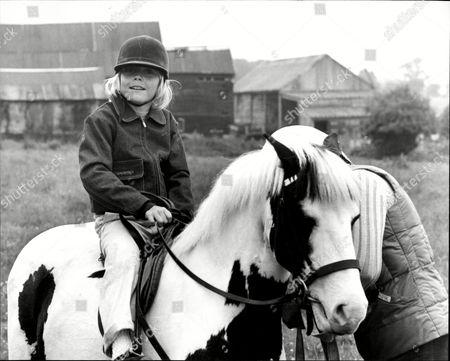 Child Actor Ricky Schroeder On His Pony 'jester'.