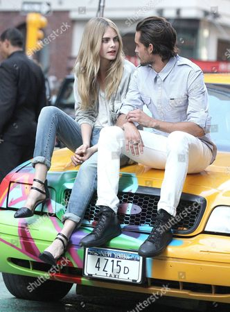 Stock Image of Cara Delevingne and Dylan Rieder