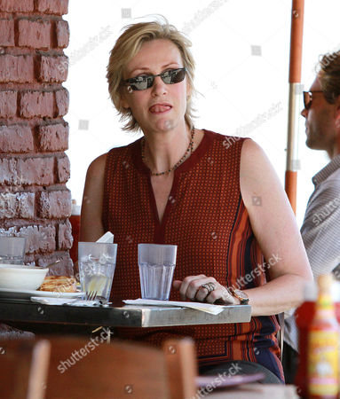 Editorial photo of Jane Lynch and Lara Embry out and about, West Hollywood, Los Angeles, America - 15 Oct 2013