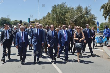 Editorial image of French President Francois Hollande visit to South Africa - 15 Oct 2013