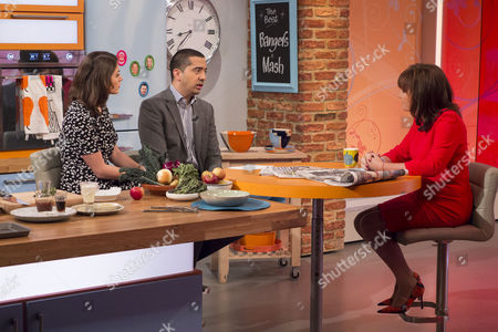 Katie Nicholl and Mehdi Hasan with Lorraine Kelly